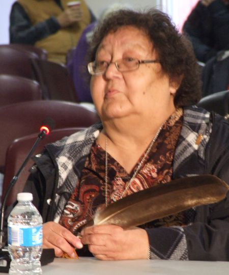 Margaret Poulette of Waycobah. photo by Joyce MacDonald