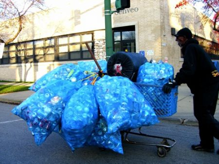 An HRM staff report calls bottle collectors scavengers and can't wait for the activity to stop (Photo: newneonunion).