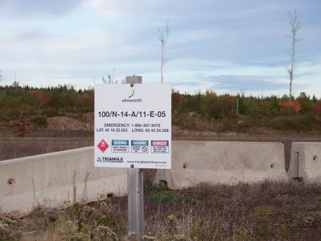 Triangle Petroleum sign near Noel Lake, Hants County, October 2012 (photo: NOFRAC)