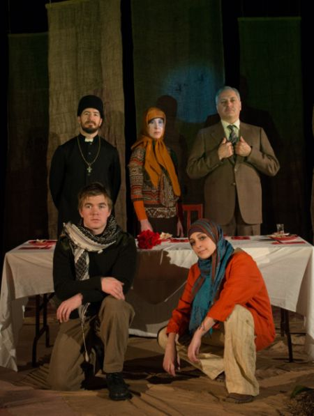 Onelight Theatre presents a stunning performance of civilians caught up in the Iran-Iraq war. Photo by Scott Munn 2014
