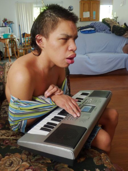 Jeremy Meawasige loves music, and will be able to remain at home under the care of his mother, thanks to yesterday's ruling by Federal Court Justice Mandamin. photo: Moira Peters