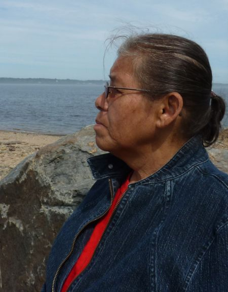Maurina Beadle at Pictou Landing. photo by Moira Peters