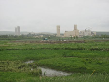 The new and old potash mining operation in Penobsquis, NB. (Photo: Tracy Glynn.)