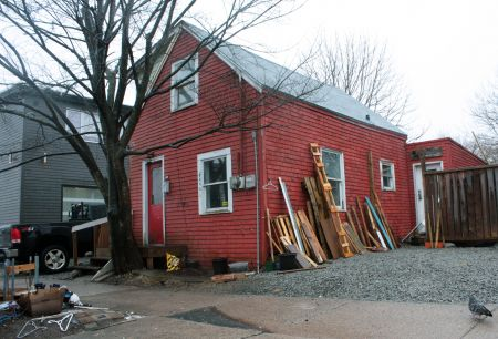 The little red house on Roberts Street. (Photo by Hilary Beaumont)