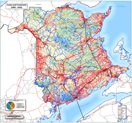 Exclusive: Map shows glyphosate applications in New Brunswick 2005 - 2014
