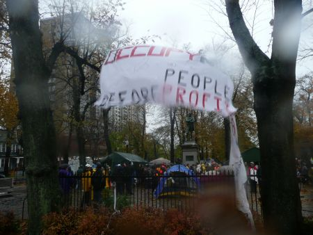 Occupy NS temporarily relocated to Victoria Park out of respect for veterans.