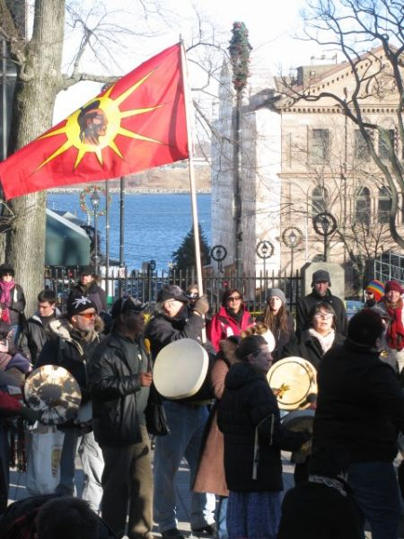 """The Idle No More movement could bring this country """"to its knees if [the government] doesn't smarten up,"""" says Mi'kmaq elder Billy Lewis."""