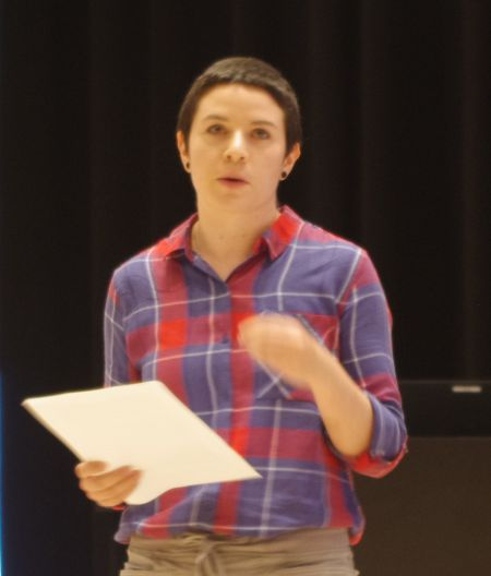Alex Todd of the Halifax Bi-, Pan- and Multisexual Connection, explored online effort to compile bisexual and ally resources during Thursday's panel presentation at the Central Library.