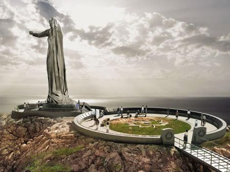 An artist's rendition of the Mother Canada statue at the proposed Never Forgotten National Memorial at Green Cove, Cape Breton