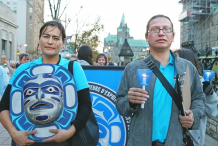 A Sisters in Spirit vigil (photo courtesy of NWAC.com).