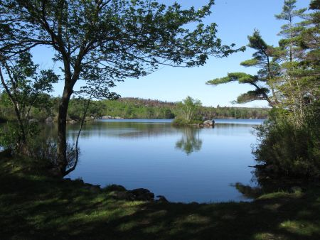 Wiliams Lake, May 2012, as yet unspoiled by service lines [Photo: M. Dobson]