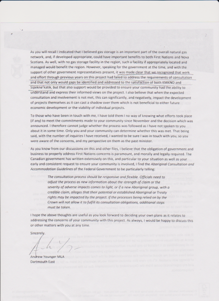 Page 2 of January 26, 2016 letter from Andrew Younger to Chief Rufus Copage