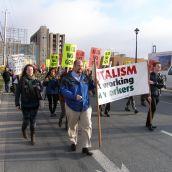 Marching toward Pier 21