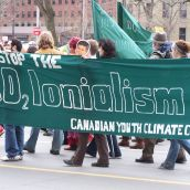 Young climate change activists make a point, but Harper seems oblivious