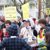 Music was a big part of the protest.