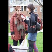 Halifax Media Coop organizer Hillary Lindsay getting the story for the people...