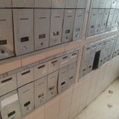 The communal mailboxes are too easily broken into, and it shows. Cheques go missing, tenants say. Photo Robert Devet