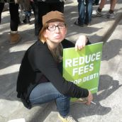 King's student Jess Geddes is sad about proposals to increase tuition