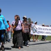 Members of NSNWA and friends walked through Point Pleasant Park, gathered water from the ocean, and prayed for clean water for generations to come.