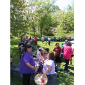 The Water Walk was organized in solidarity with the Pictou Landing First Nation community.