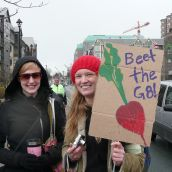 The march was held in solidarity with G8 protests to take place in Halifax later this month.  photo: Hillary Lindsay