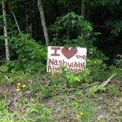 A sign of love for the Nashwaak River Valley. Photo: Tracy Glynn.