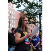 Lisa Mason, a home care worker and president of the South Shore Labour Council. Photo Simon de Vet