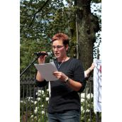 Trish MacDonald, registered nurse and proud NSGEU member in Halifax. Photo Simon de Vet