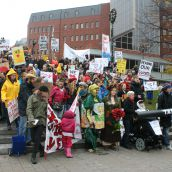 Group photo after the rally.  Many had already left at that time.  Photo Robert Devet