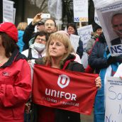 Bill 37 did not just affect the Capital Health nurses. The legislation effectively removed the right to strike from another 40,000 unionized health care and Community Services workers province-wide. The legislation affects hospital staff province-wide, people who work in group homes, ambulance dispatchers, and many more. Photo Robert Devet