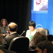 Bev Oda, Canadian Minister of International Cooperation, delivers her opening address