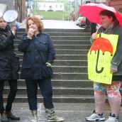 """The criminalization of sex work has killed four people I knew right here in Halifax.  Under this new bill things will only get worse,"" said Fiona Traynor, chair of the board of Stepping Stone.  Photo Robert Devet"