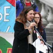 Michaela Sam, chairperson for the Canadian Federation of Students. Photo Robert Devet