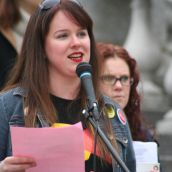 Suzanne MacNeil for Solidarity Halifax. Photo Robert Devet