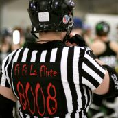 """""""fifi la flirt"""", a referee from Anchor City Rollers"""