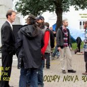 Mayor Peter Kelly Visits Occupy Nova Scotia