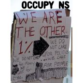OccupyNS Vigil at Halifax Police Headquarters