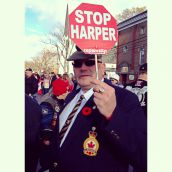 Veterans march against office closures