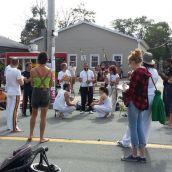 Capoeira demonstration near Charles Street.