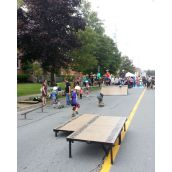 A pop-up skate park took over the street near Bloomfield.