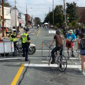 Halifax Regional Police officers on duty at major intersections are one of the major costs of the event.