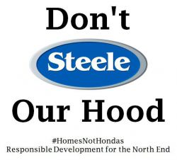 """Produced by """"Homes, not Hondas"""" Facebook site"""