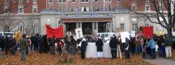 Haligonians demonstrate against ACOA-funded Halifax International Security Conference, November, 2009