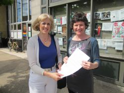 presenting petition to MP, Megan Leslie, asking for a revenue-neutral carbon fee and dividend 2012