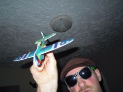 This plane cost me 75 cents, and is far less harmful.