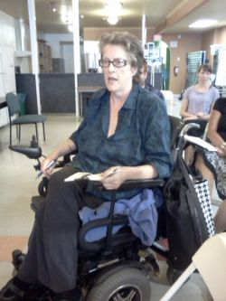 Shirley O'Neill, a recipient of the special needs program after winning an appeal process.