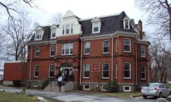 The Halifax Infants Home on Tower Road faces possible demolition.  As a first gesture, to demonstrate respect for women's history and their early activism in Halifax St. Mary's University should reconsider this decision.  Photo credit Heritage Trust of Nova Scotia
