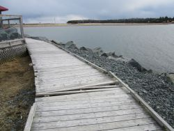 Erosion caused by global warming at Fisherman's Cove, Nova Scotia 2012 Photo by Joanne Light