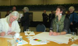 Two of four generations of concerned Nova Scotian citizens produce dozens of points in group sessions.