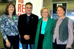 CCL Halifax members with Green Party leader, Elizabeth May in Halifax this spring 2015